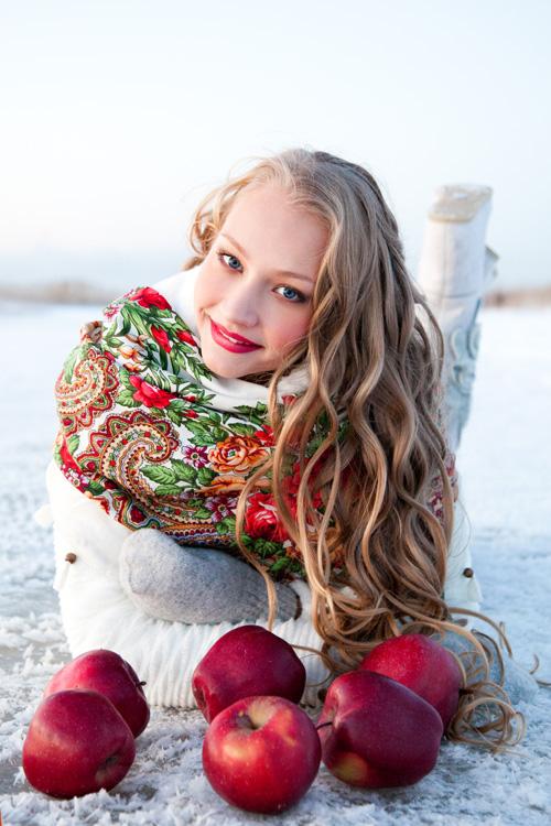 Русские девушки зимой фото в городе фото 19-404
