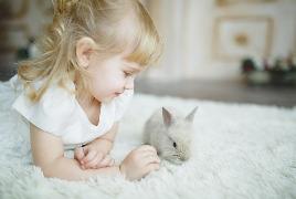 Девушка с кроликом